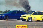 BMW M5 vs Diesel Seat Arosa