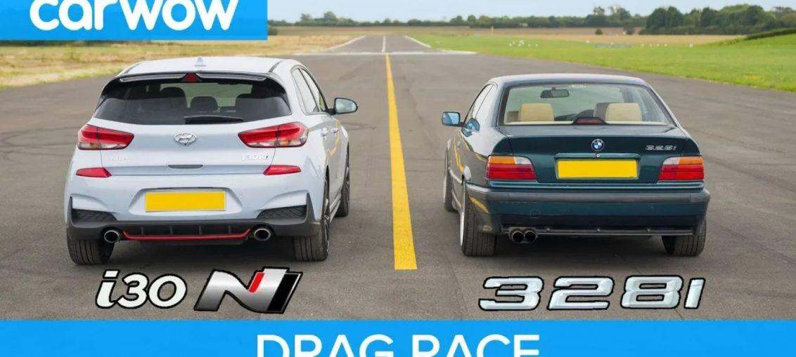 Hyundai i30N vs BMW 328i drag race