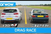 Hyundai i30N vs BMW 328i drag race