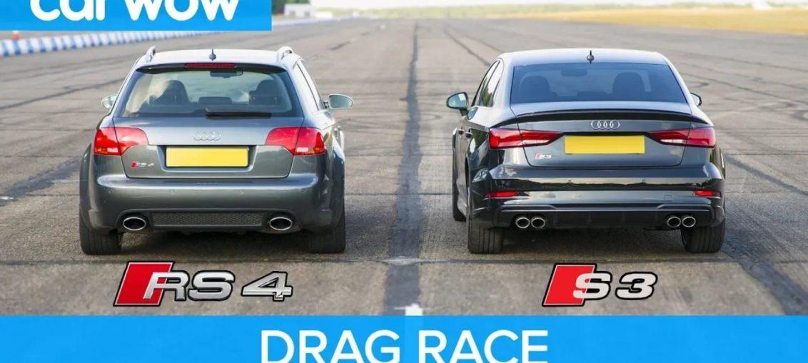 Audi RS vs Audi S3 Drag race