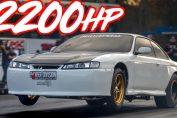 2200hp Nissan 240SX big boost