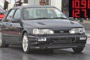Sierra Cosworth drag turbo stance