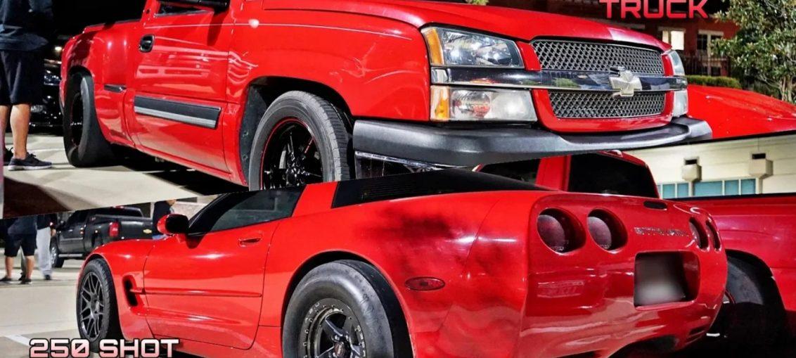 Turbo Truck vs Nitrous Corvette