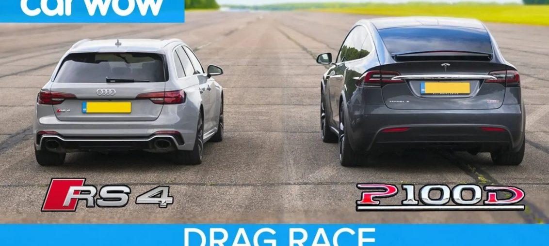 Audi RS4 vs Tesla P100D