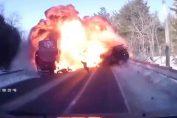 Jeep driver crashes into semi-truck