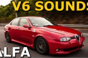 Alfa romeo V6 sound acceleration