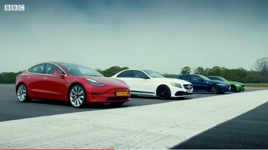 Tesla Model 3 vs Merc-AMG C63 S, BMW M3 & Alfa Giulia QV ...