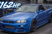 1162HP Skyline R34 GTR Godzilla