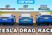 Model S vs 3 vs X - Tesla Performance