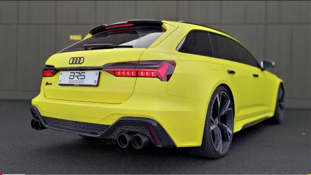 2021 Audi RS6 with Capristo Carbon Edition Exhaust ...