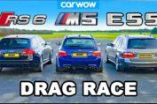 BMW M5 V10 vs AMG E55